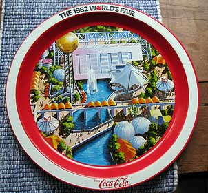 Picture of 1982 World's Fair serving Tray