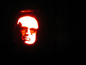 Picture of Dick Cheney Pumpkin