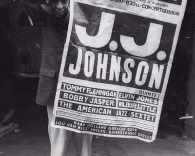 j.j. johnson poster for 1957 Dutch concert
