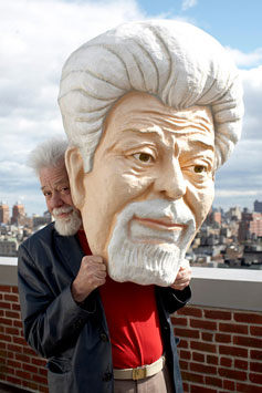 Roswell Rudd with giant likeness